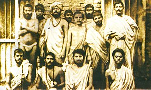 Relationship between Ramakrishna and Swami Vivekananda   Wikipedia Group photo of Indian young men  Some are sitting  some are standing   Vivekananda