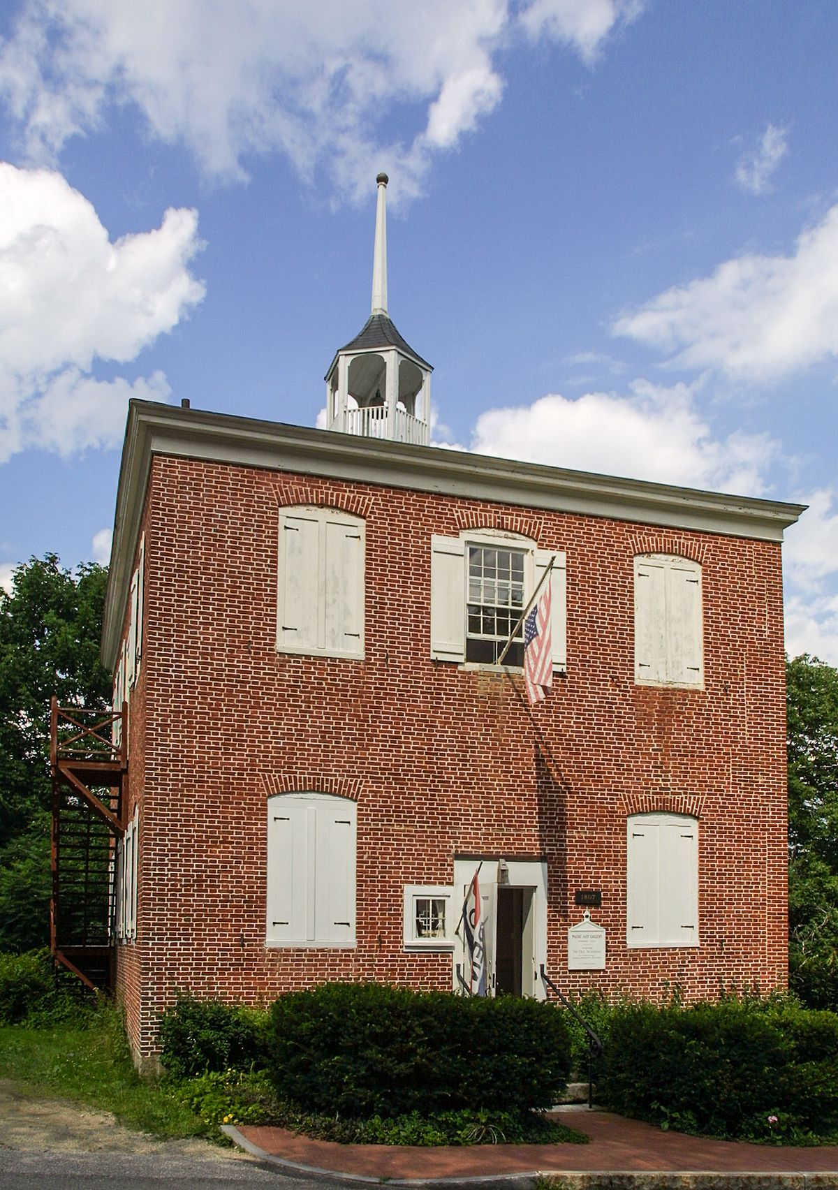 Red Brick School Wiscasset Maine Wikipedia