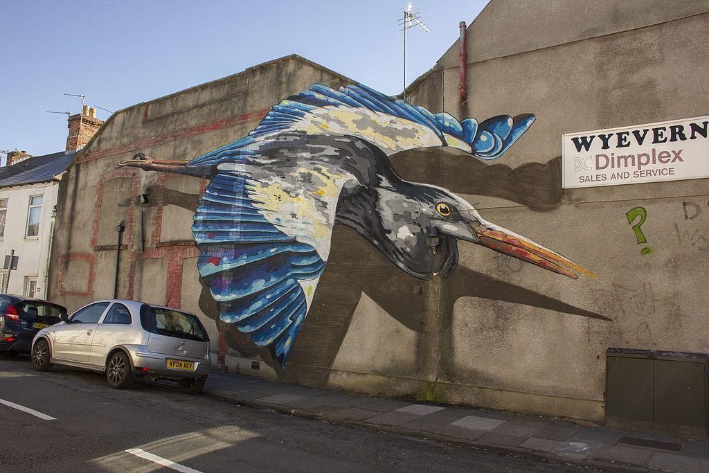 File Street Art Plasnewydd Road Roath Cardiff