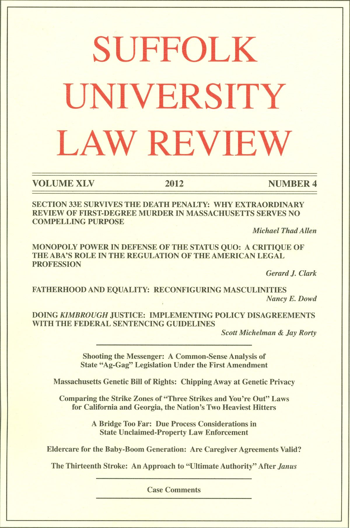 Suffolk University Law Review Wikipedia