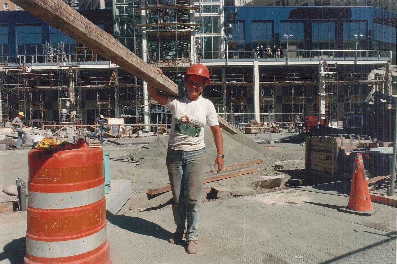 File Construction Worker At Westlake Center 1988 Jpg