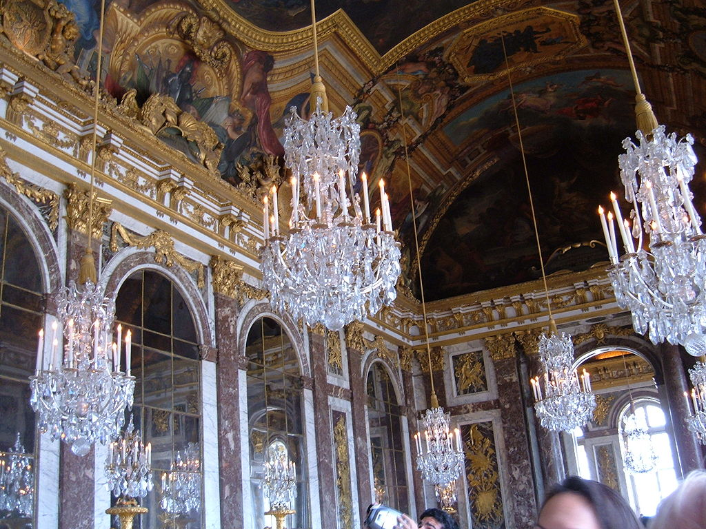 File Hall Of Mirrors Palace Of Versailles Chandeliers Jpg