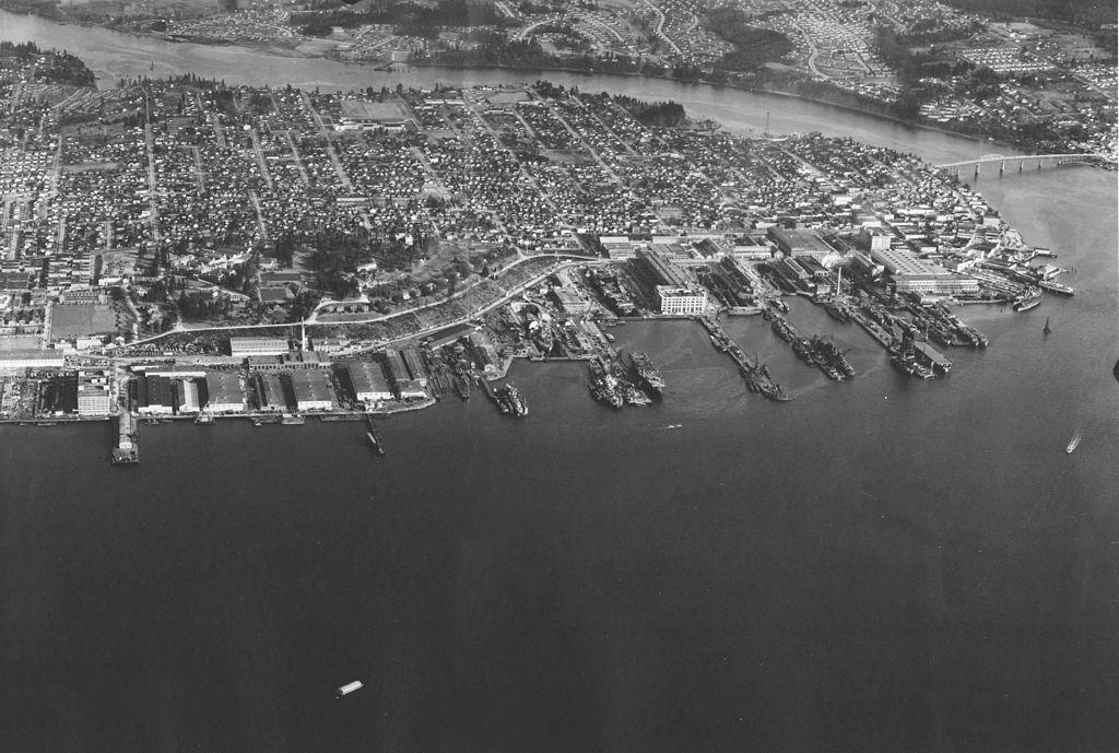File View Of Puget Sound Navy Yard And Bremerton Circa In March 1945 Jpg Wikimedia Commons