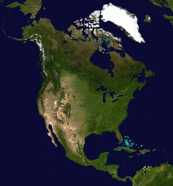 File North America satellite orthographic jpg   Wikipedia File North America satellite orthographic jpg