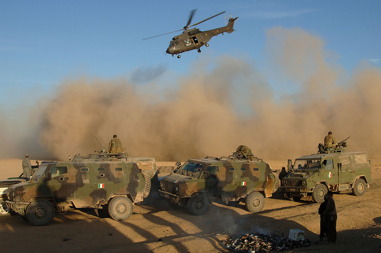 File Italian Army Convoy From The Prt Heads For Farsi