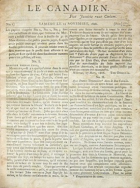History Of Canadian Newspapers Wikipedia