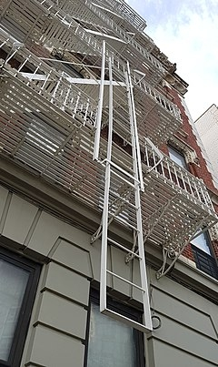 Fire Escape Wikipedia   Steel Fire Escape Stairs   Architectural   Internal   Industrial   Emergency   Fire Exit