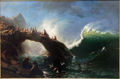 File:Albert Bierstadt, Farallon Island 1887 Oil on Canvas ...