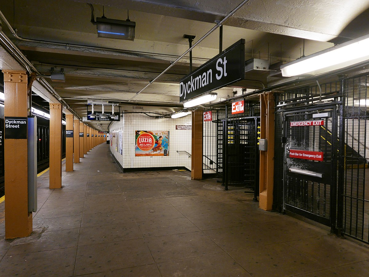 Dyckman Street Station Ind Eighth Avenue Line Wikipedia