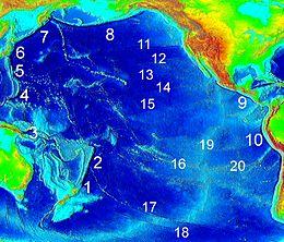 List of fracture zones - Wikipedia