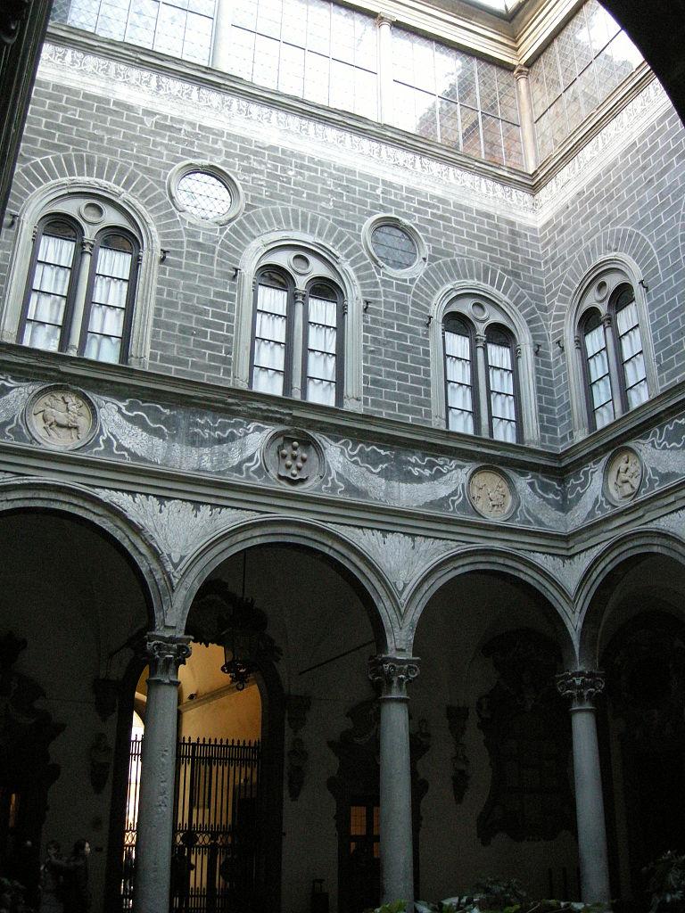 File Palazzo Medici Riccardi Cortile 01 Jpg Wikimedia