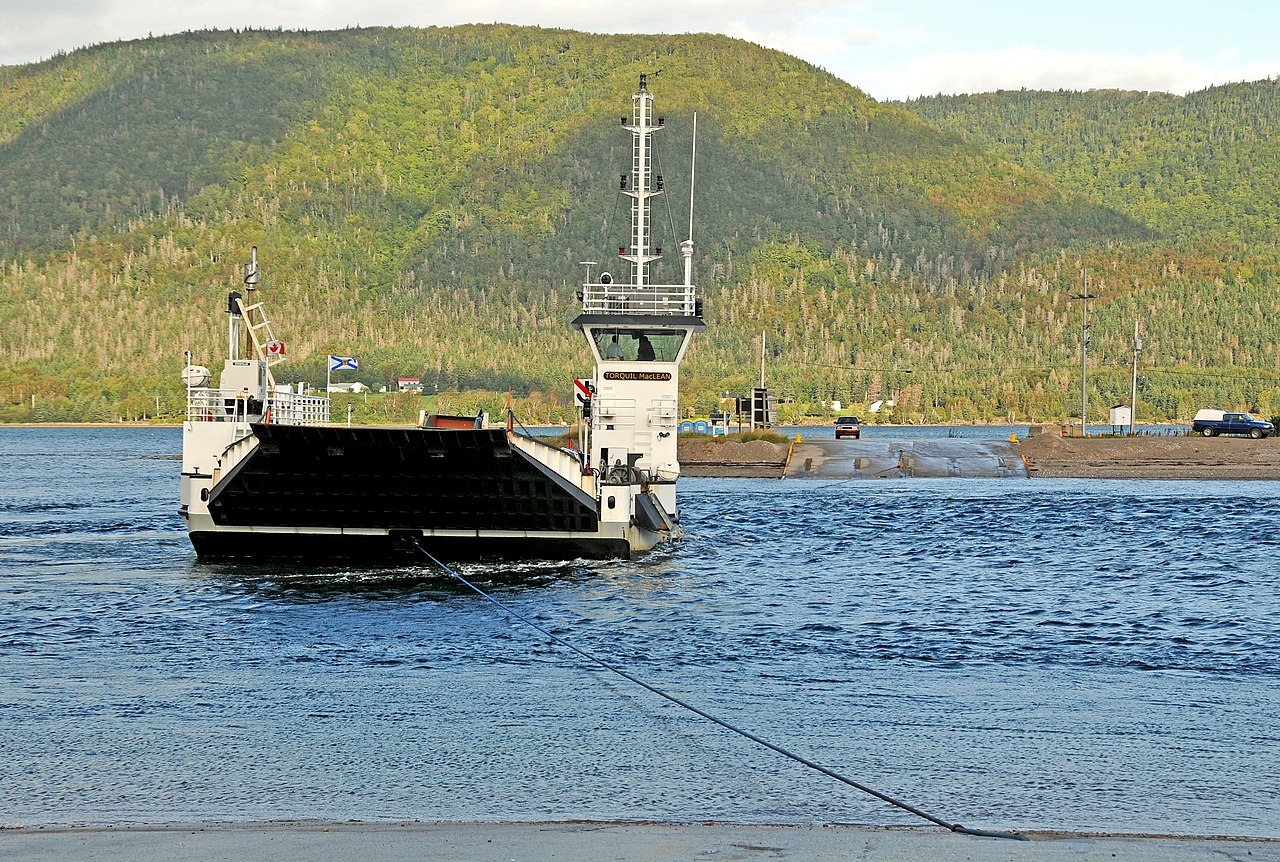 File Cable Ferry Torquil Maclean Nova Scotia Canada