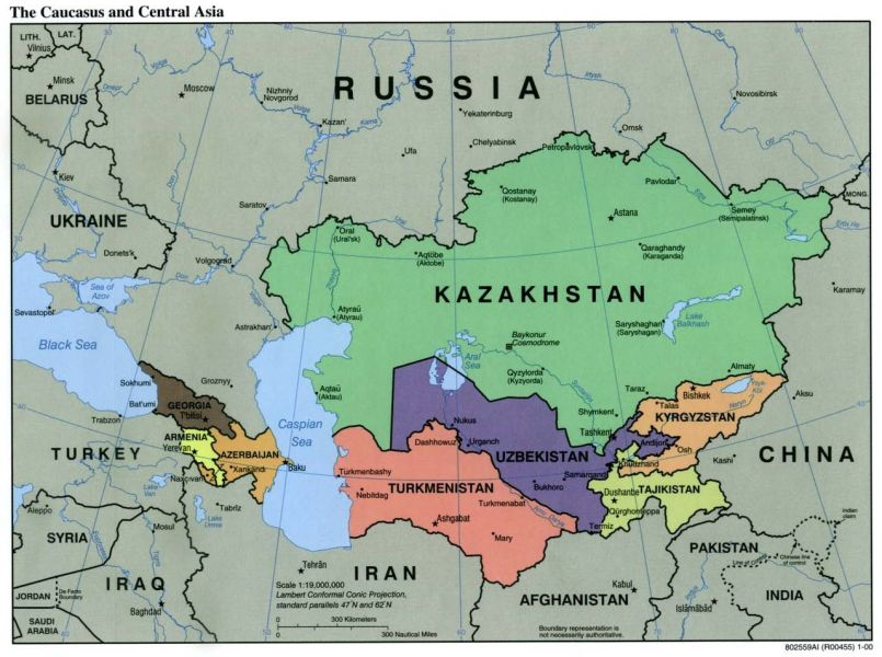 File Caucasus central asia political map 2000 jpg   Wikimedia Commons File Caucasus central asia political map 2000 jpg