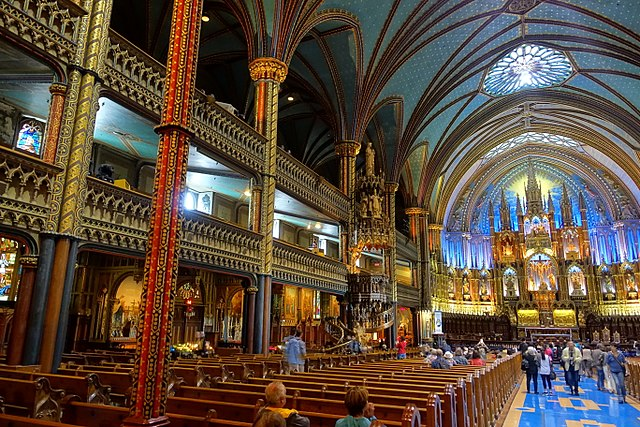 File Interior Notre Dame De Montr 233 Al Basilica Montreal