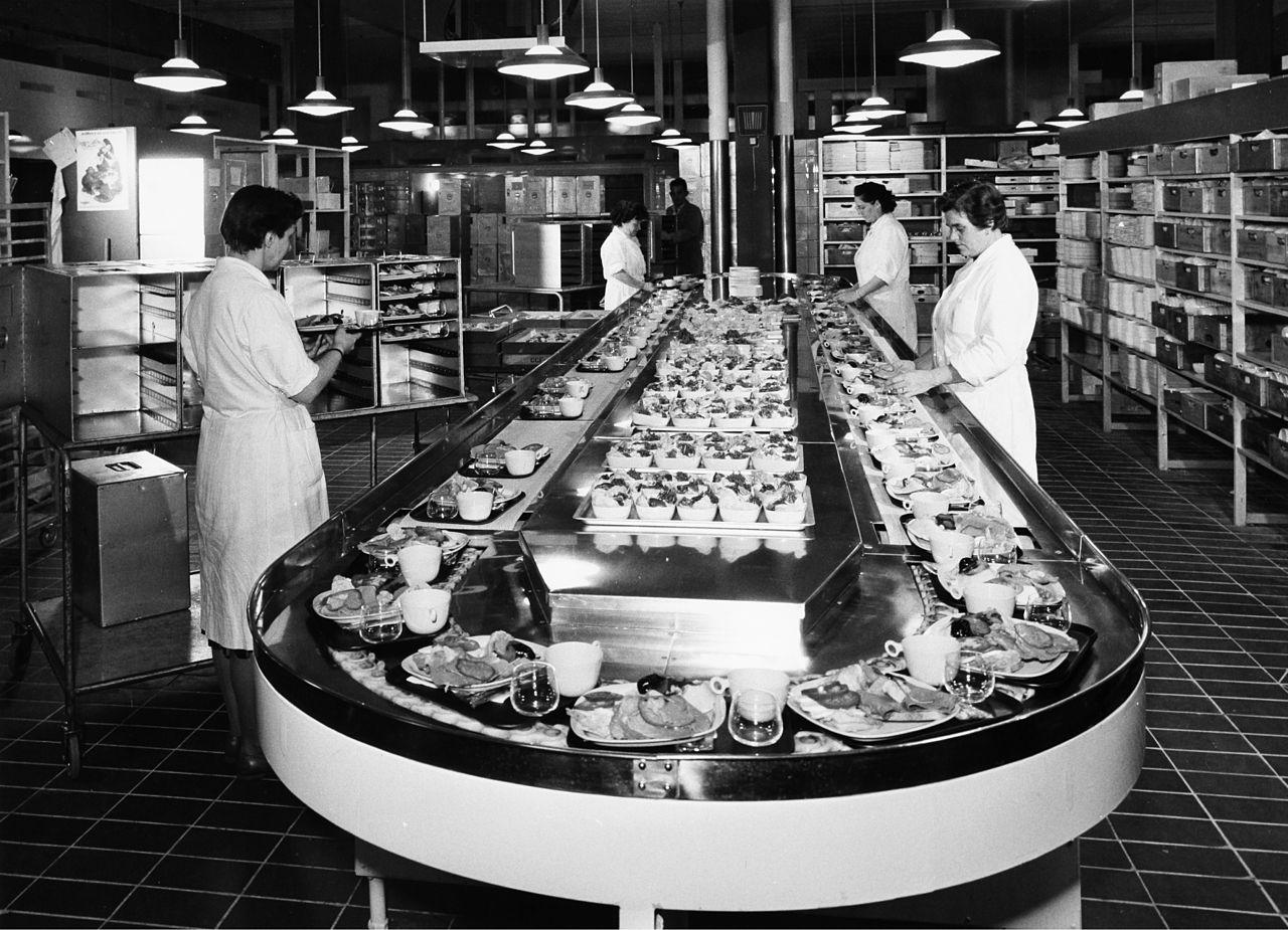 File Kastrup Airport Cph Copenhagen Flight Kitchen 1950s