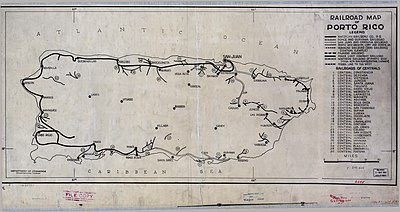 Rail transport in Puerto Rico   Wikipedia Railroad map of Puerto Rico  1924
