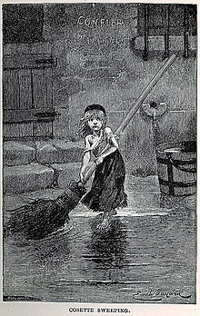 Les Mis    rables   Wikipedia Portrait of  Cosette  by Emile Bayard  from the original edition of Les  Mis    rables  1862