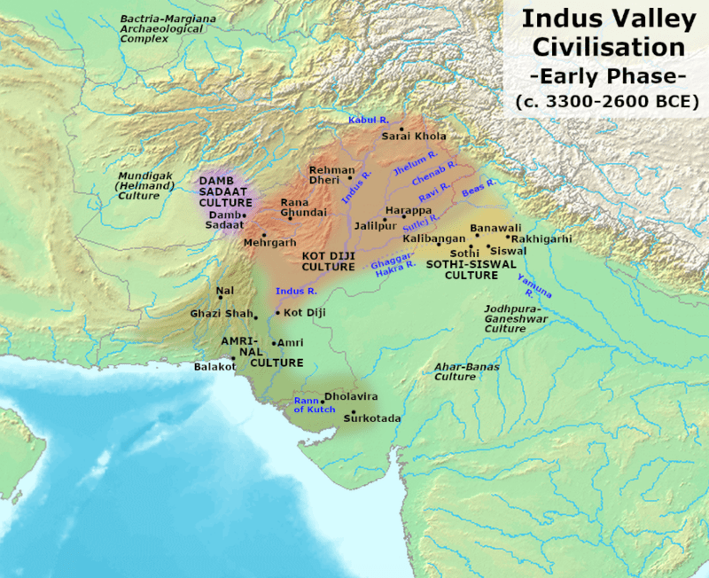 indus valley civilization map - HD 1200×890