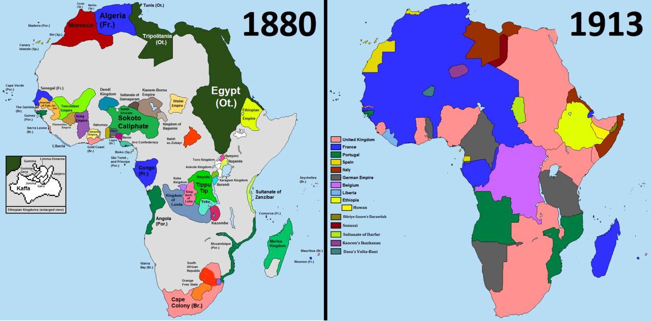 Scramble Africa Blank Map