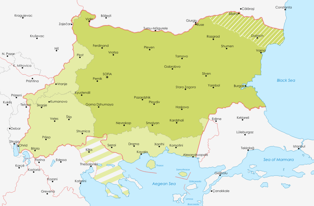 File Map of Bulgaria during WWII png   Wikimedia Commons Other resolutions  320      210 pixels   640      421 pixels
