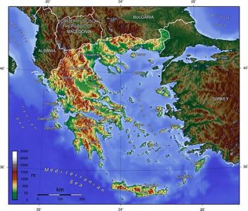 Geography of Greece   Wikipedia A geographical map of Greece and its offshore territories