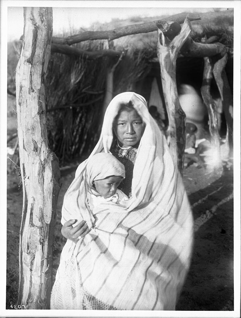 File A Yaqui Indian Mother Holding A Baby Arizona Ca