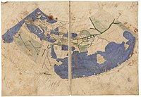 Early world maps   Wikipedia The oldest surviving Ptolemaic world map  redrawn according to his 1st  projection by monks at Constantinople under Maximus Planudes around 1300