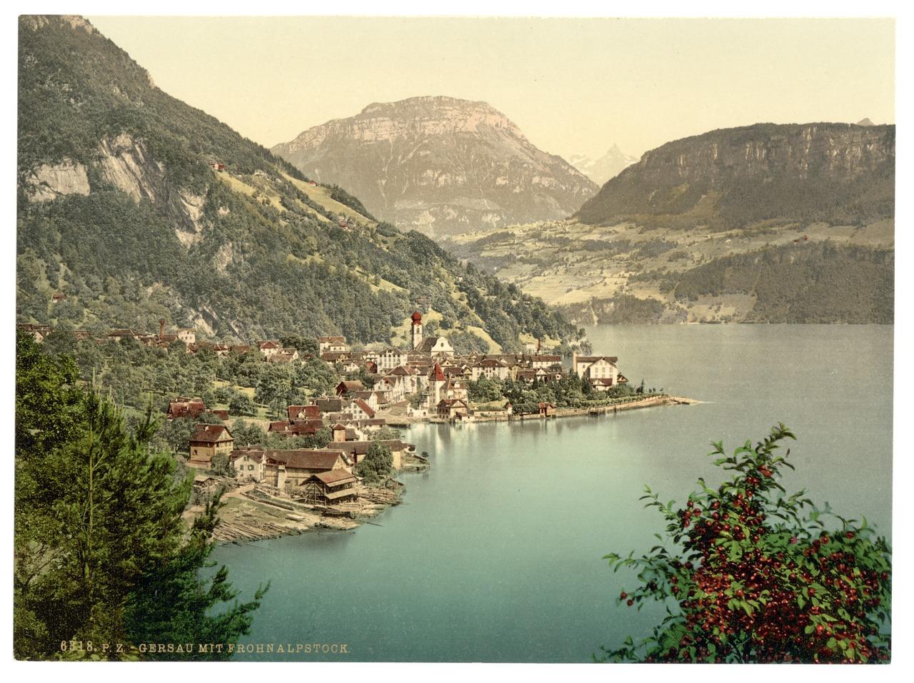 File Gersau And Frohnalpstock Lake Lucerne Switzerland Lccn2001703086 Tif Wikimedia Commons