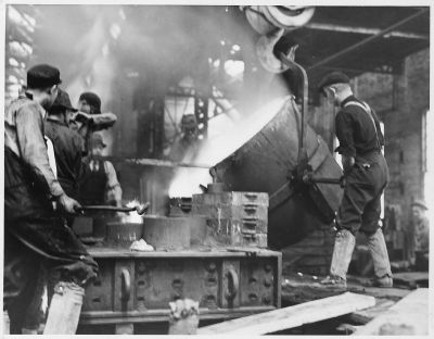 File:(Employees of Foundry Departmant, working pouring ...
