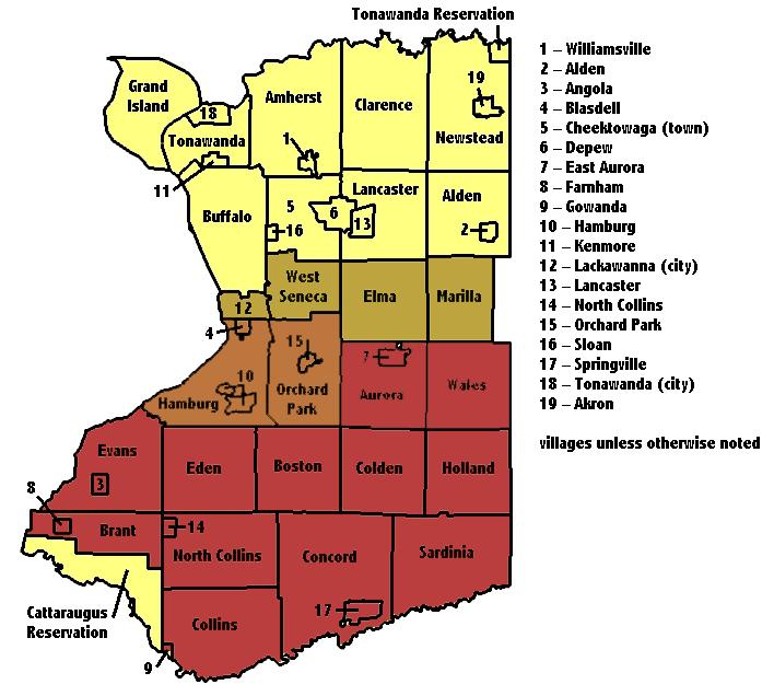 Western Ny Zip Code Map