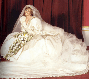 Wedding dress of Lady Diana Spencer   Wikipedia Princess Diana wedding dress png