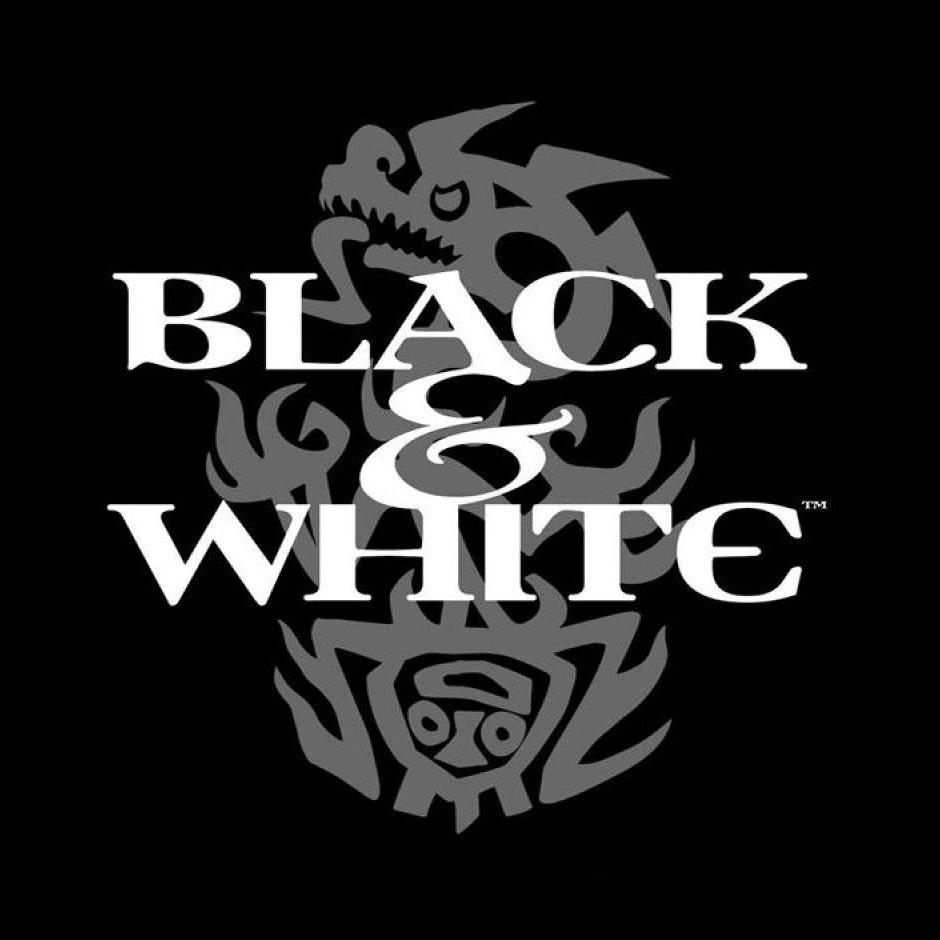 Black And Logo Copyright White