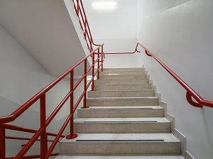 Safety Tips For Stairways To Prevent Slips Trips And Falls   Safety Rails For Steps   Step Handrail   Steel Stair   Exterior Handrail   Wall Mounted   Wrought Iron