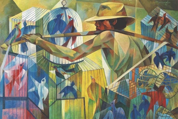 The Bird Seller - Vicente Manansala - WikiArt.org ...