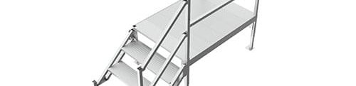 Portable Aluminum Stairs For Mobile Offices Upside Innovations | Portable Stairs With Handrail | Chair | Plastic Portable | Camper | Wall Mounted | Ladder