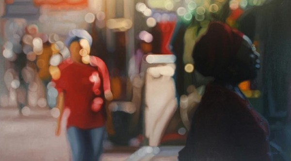 Blurry Summer Oil On Canvas Paintings Of The City By