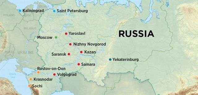 Russia And Moscow Sochi Map