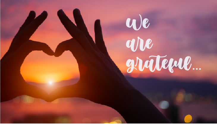 We are grateful