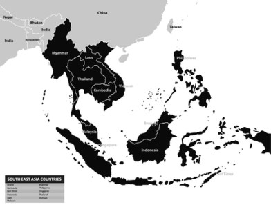 Southeast Asia Map  Maps Collection Royalty Free Cliparts  Vectors      73163776   Southeast asia map