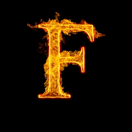 Fire Alphabet Stock Photos  Royalty Free Fire Alphabet Images Fire alphabet letter F isolated on black background
