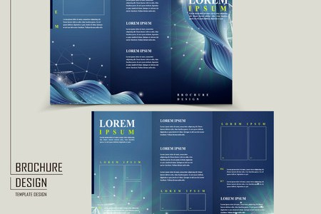 Abstract Technology Background For Tri fold Brochure Template     abstract technology background for tri fold brochure template Stock Vector    32855786