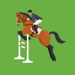 Cartoon Horse Jumping Stock Photos  Royalty Free Cartoon Horse     Horse Jumping Over Fence Equestrian sport