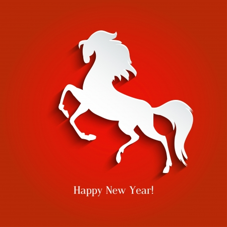 New Year Symbol Of Horse   Illustration  Vector Royalty Free     New Year symbol of horse   Illustration  vector Stock Vector   23250645