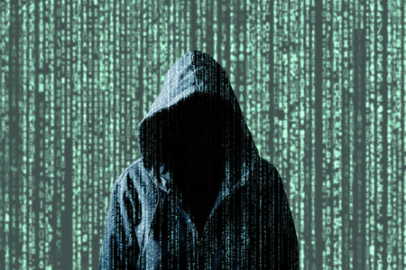 Anonymous Computer Hacker, Concept For Network Security, Cyber.. Stock  Photo, Picture And Royalty Free Image. Image 92259898.