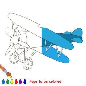 Airplane To Be Colored  The Coloring Book To Educate Preschool     Airplane to be colored  the coloring book to educate preschool kids with  easy kid educational