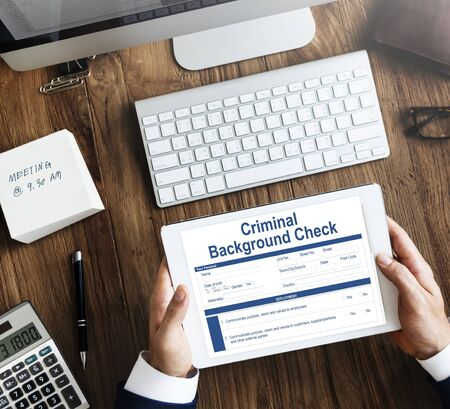 Criminal Background Check Insurance Form Concept Stock Photo     Criminal Background Check Insurance Form Concept Stock Photo   62603926