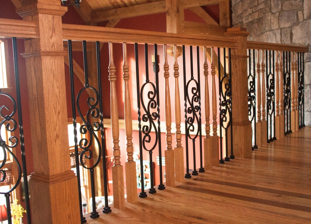 Mixing Metals And Woods | Wood And Metal Banister | Modern | Rustic | Stainless Steel | Design | Aluminum