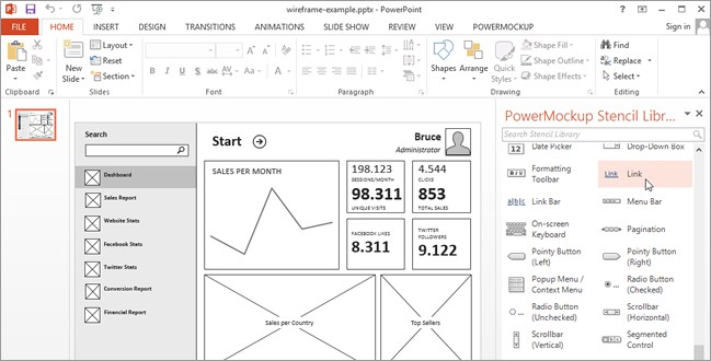 Visio Storyboard Template