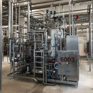UHT PLANT, INCLUDING HOMOGENIZER