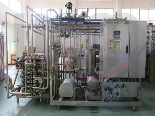 USED TUBULAR TETRA PAK® UHT PLANT, INCLUDING HOMOGENIZER 2